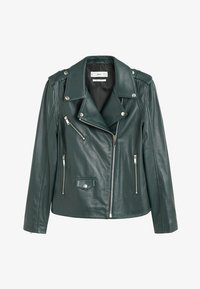 Mango - HAPPY - Leather jacket - dark green - 3