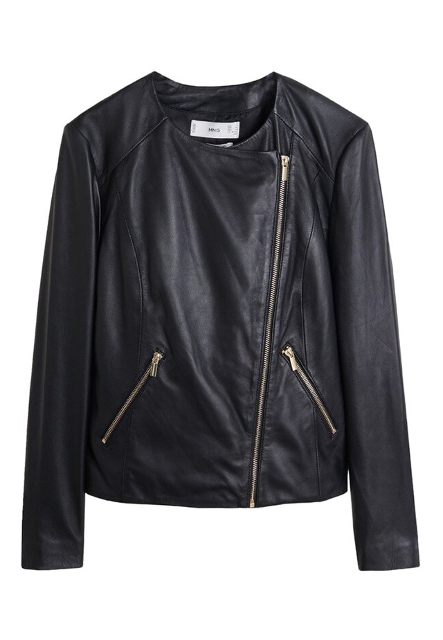 FELIPA - Leather jacket - black