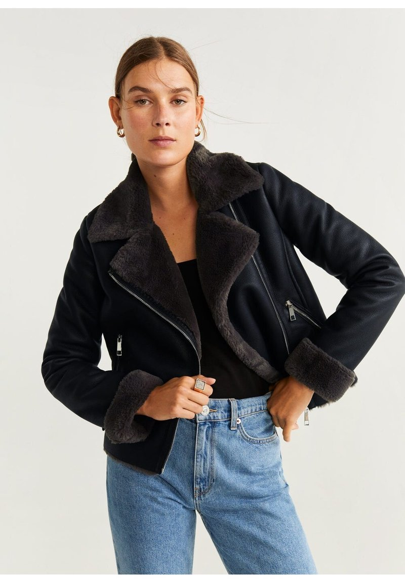 Mango - CADI - Faux leather jacket - schwarz
