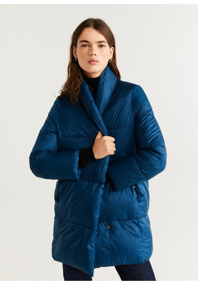 Mango - NEDALONG - Winter coat - petrolblau
