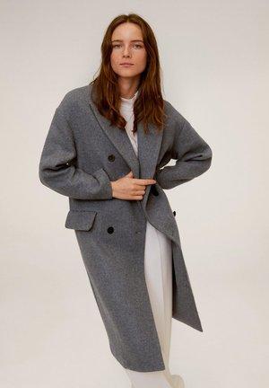 ZWEIREIHIGER MANTEL AUS WOLL-MIX - Classic coat - grau