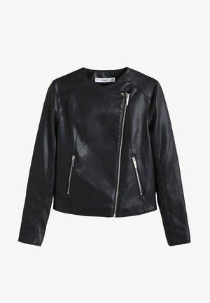 MARCMOTO - Imitatieleren jas - zwart