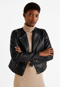 Mango - MARCMOTO - Faux leather jacket - zwart - 0