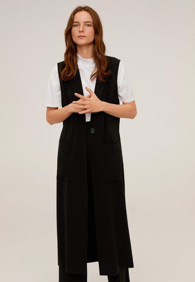 Mango - ELODY - Vest - schwarz