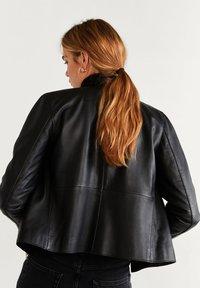 Mango - BIKERJACKE AUS LEDER - Leather jacket - schwarz - 2
