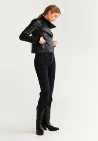 Mango - BIKERJACKE AUS LEDER - Leather jacket - schwarz - 1