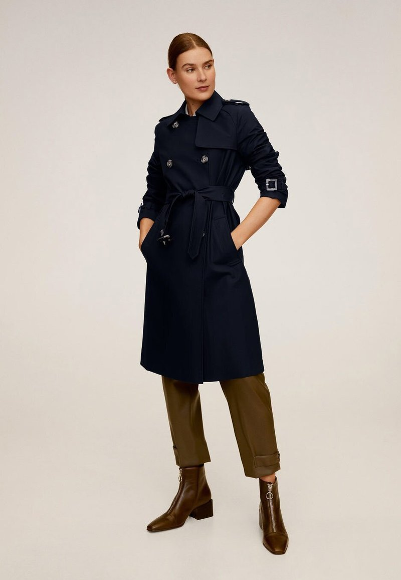Mango - POLANA - Trenchcoat - dark navy blue