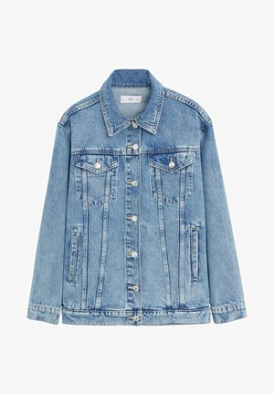 OVERSIZE - Denim jacket - mittelblau