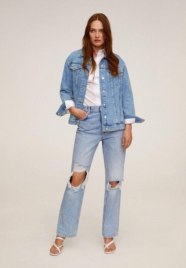 OVERSIZE - Kurtka jeansowa - mittelblau