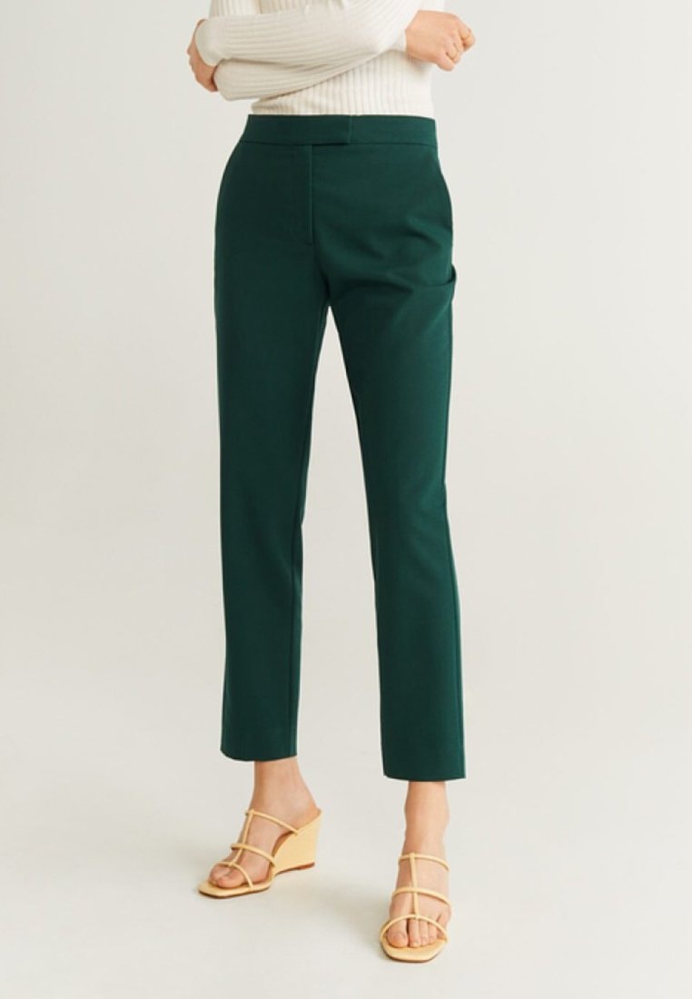 Mango - OFFICE - Stoffhose - dark green
