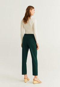 Mango - OFFICE - Spodnie materiałowe - dark green - 1