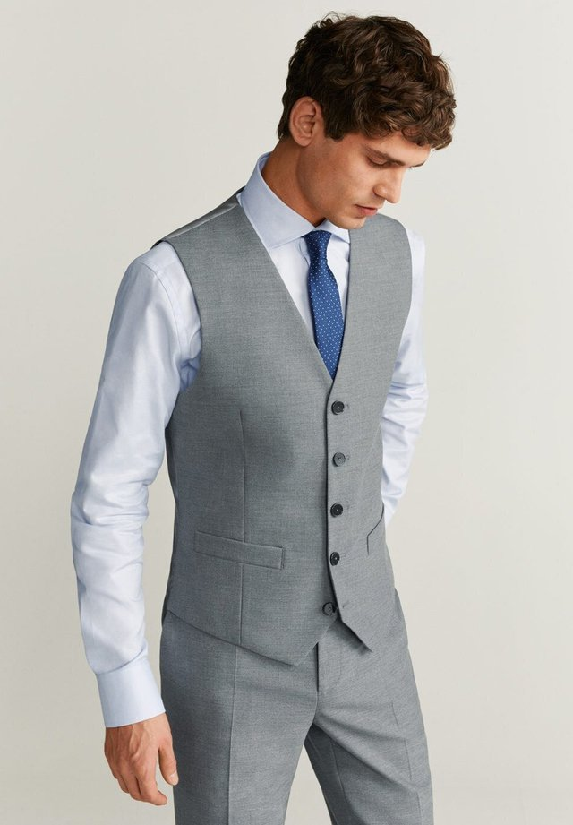 BRASILIA - Gilet elegante - gray