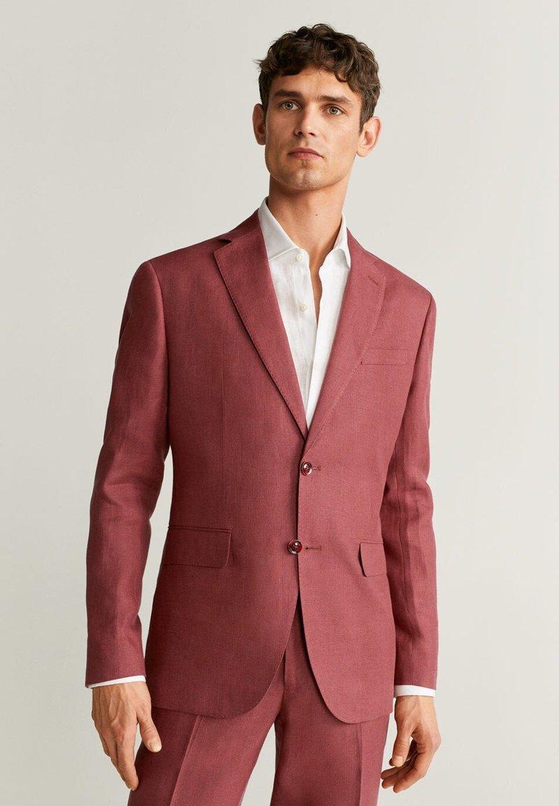 Mango - FLORIDA-I - Suit jacket - wiśniowy