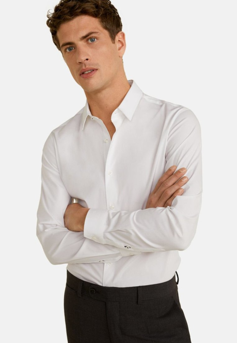 Mango - EMOTION - Camisa elegante - white