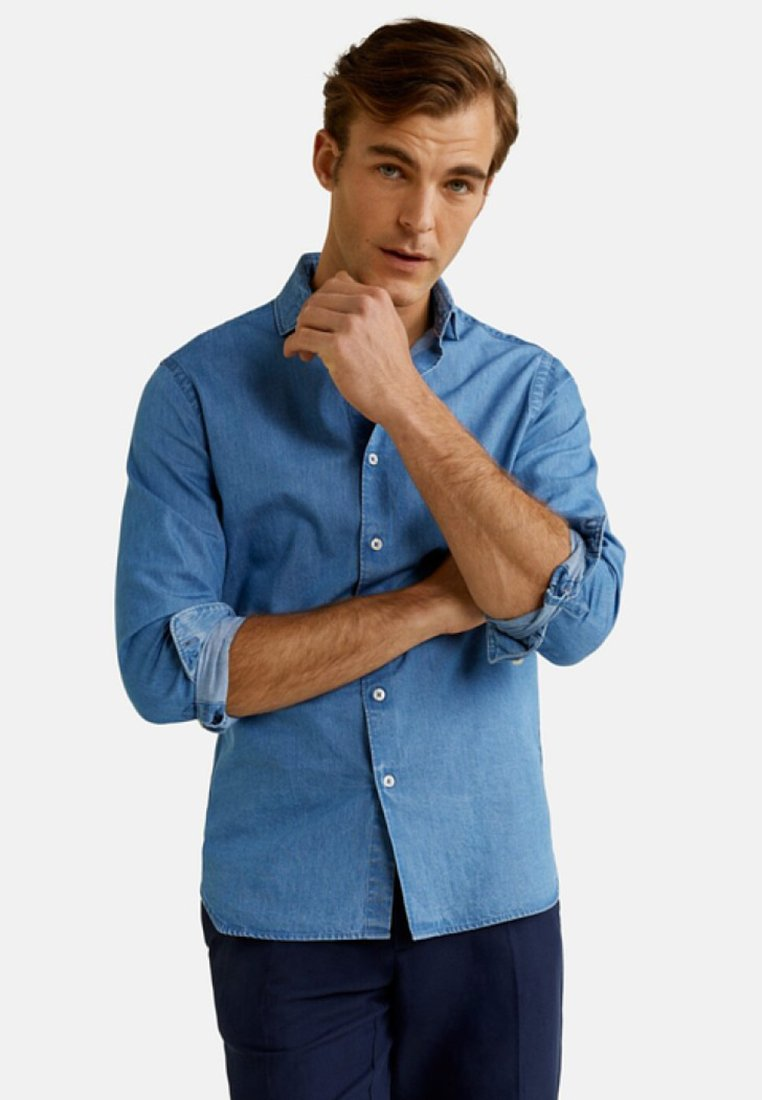 Mango - CHAMBRE - Shirt - light blue