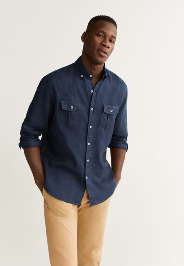 Mango - ISAUL - Shirt - royal blue