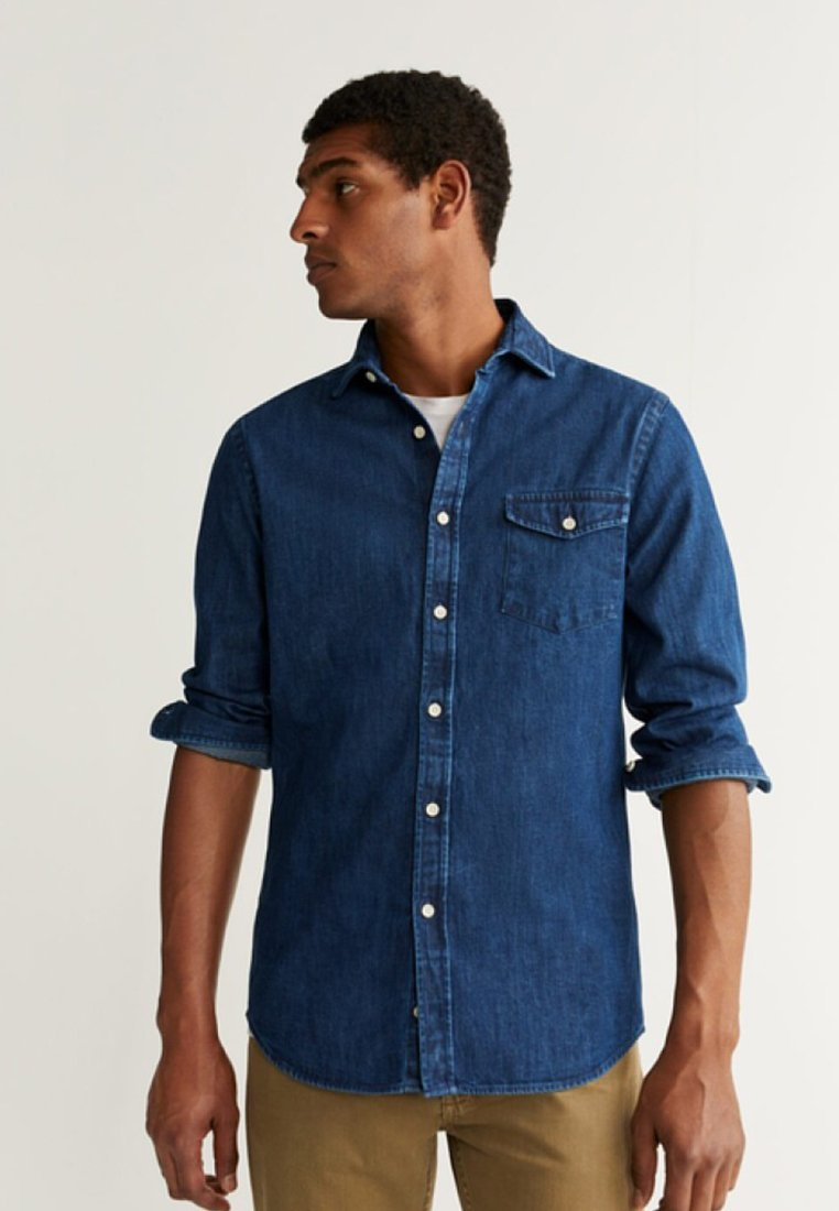 Mango - DAVID - Skjorta - dark blue