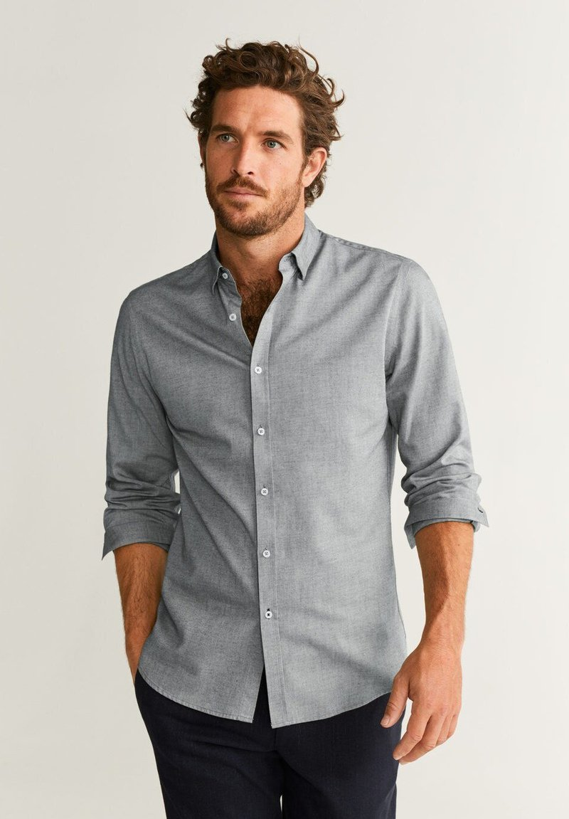 Mango - TWILL - Skjorter - grey melange