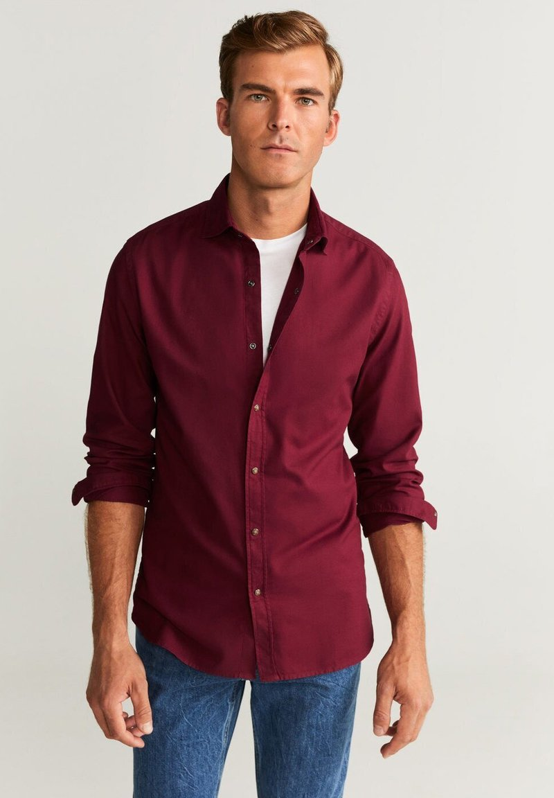Mango - ARTHUR - Shirt - Bordeaux