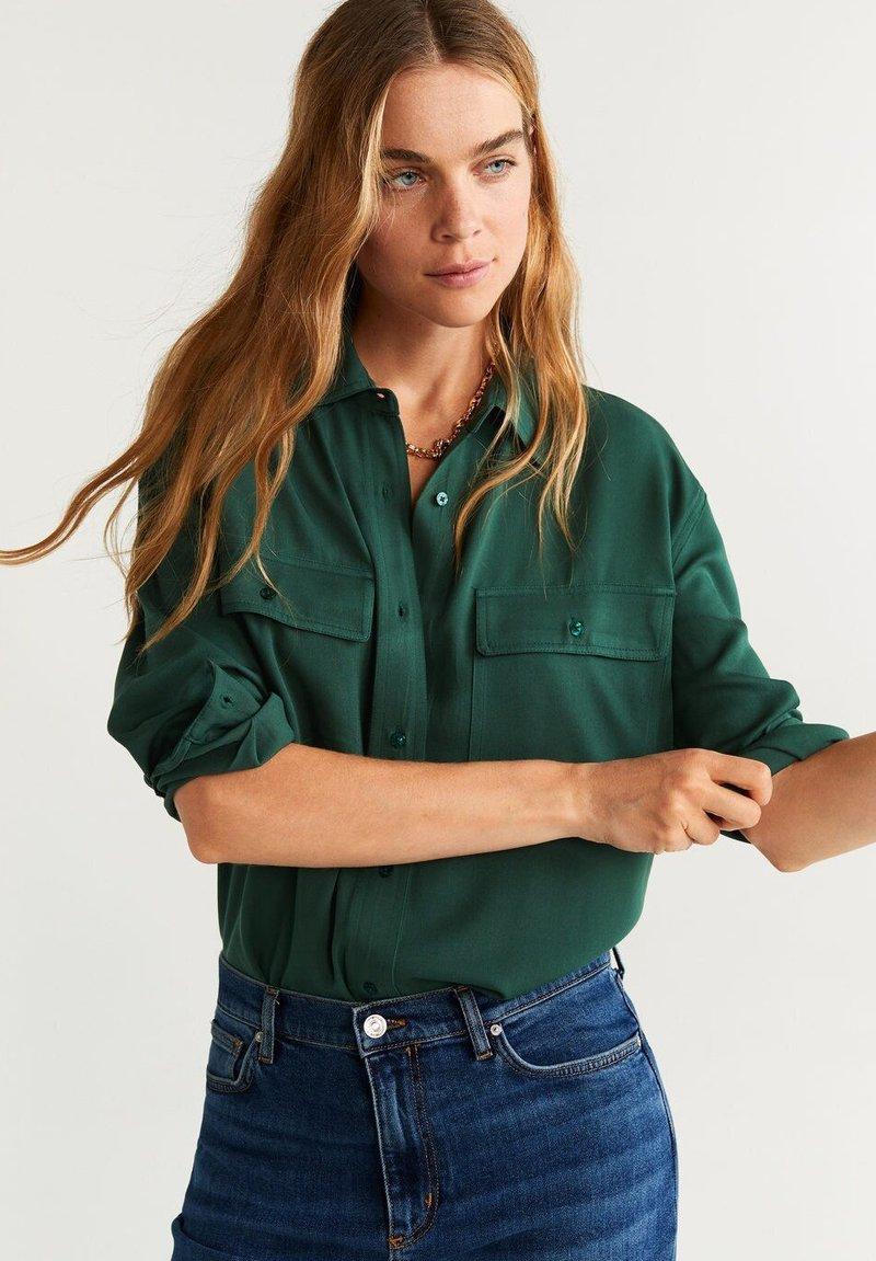 Mango - ROUGE - Overhemdblouse - green