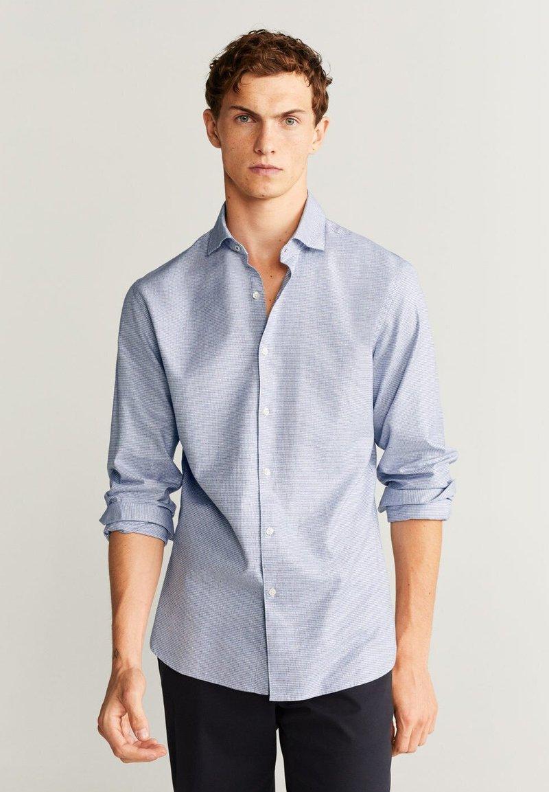 Mango - MAGA SLIM FIT - Shirt - dark navy blue