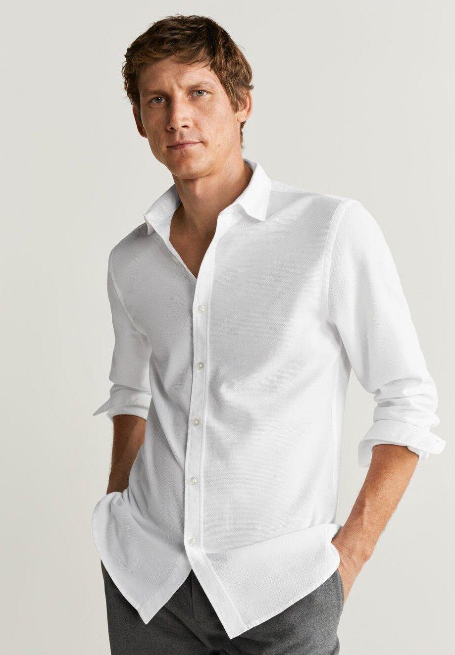 Mango ARTHUR - Koszula biznesowa - white