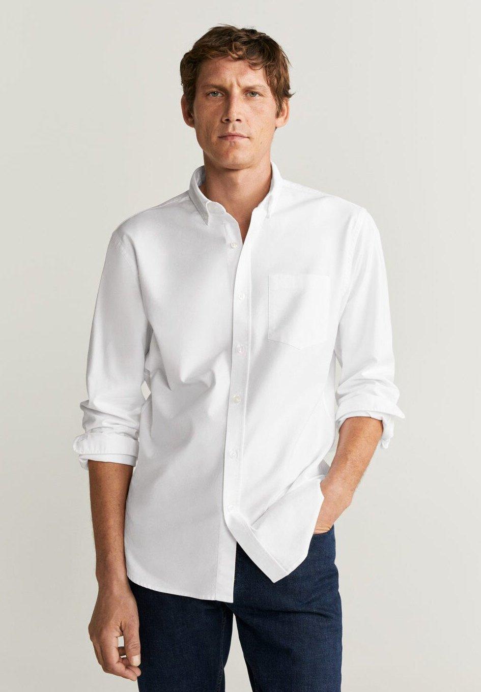 Mango OXFORD - Koszula - white