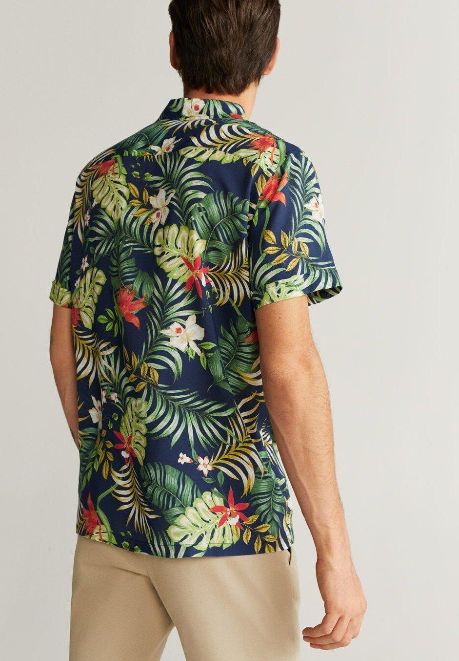 Mango Tropic - Skjorter Dark Navy Blue
