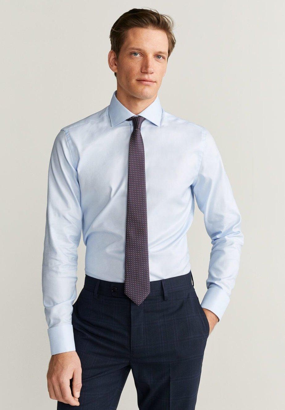 Mango MASNOU - Koszula biznesowa - light blue