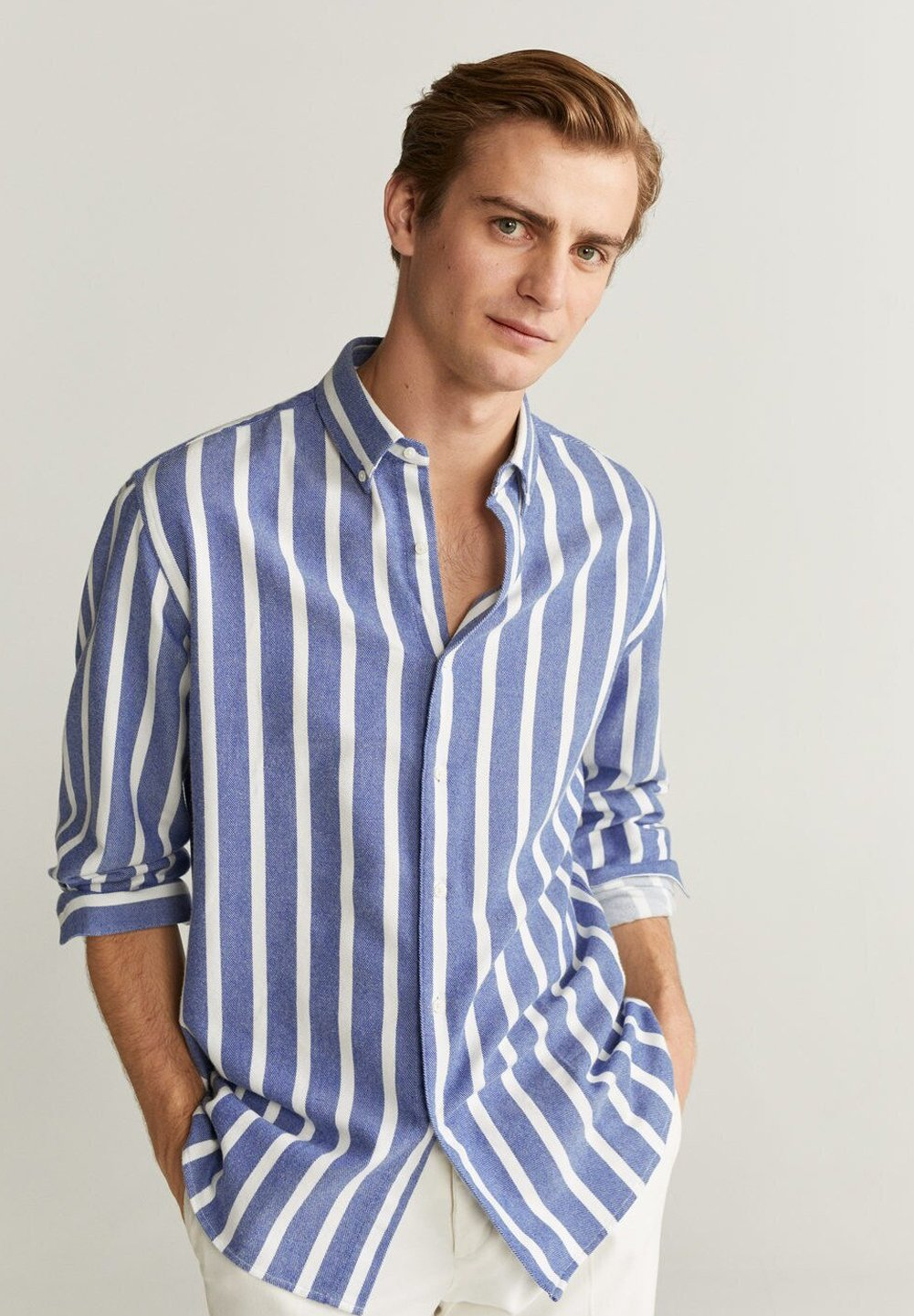 Mango PROTON - Koszula - blau