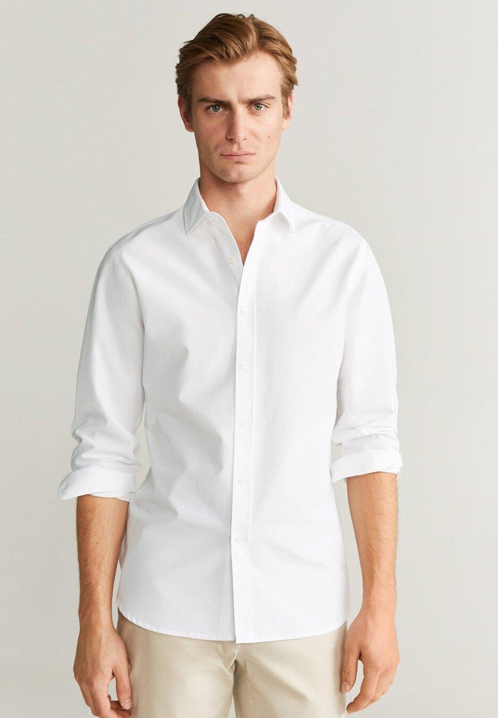 Mango ALFRED - Koszula - weiß