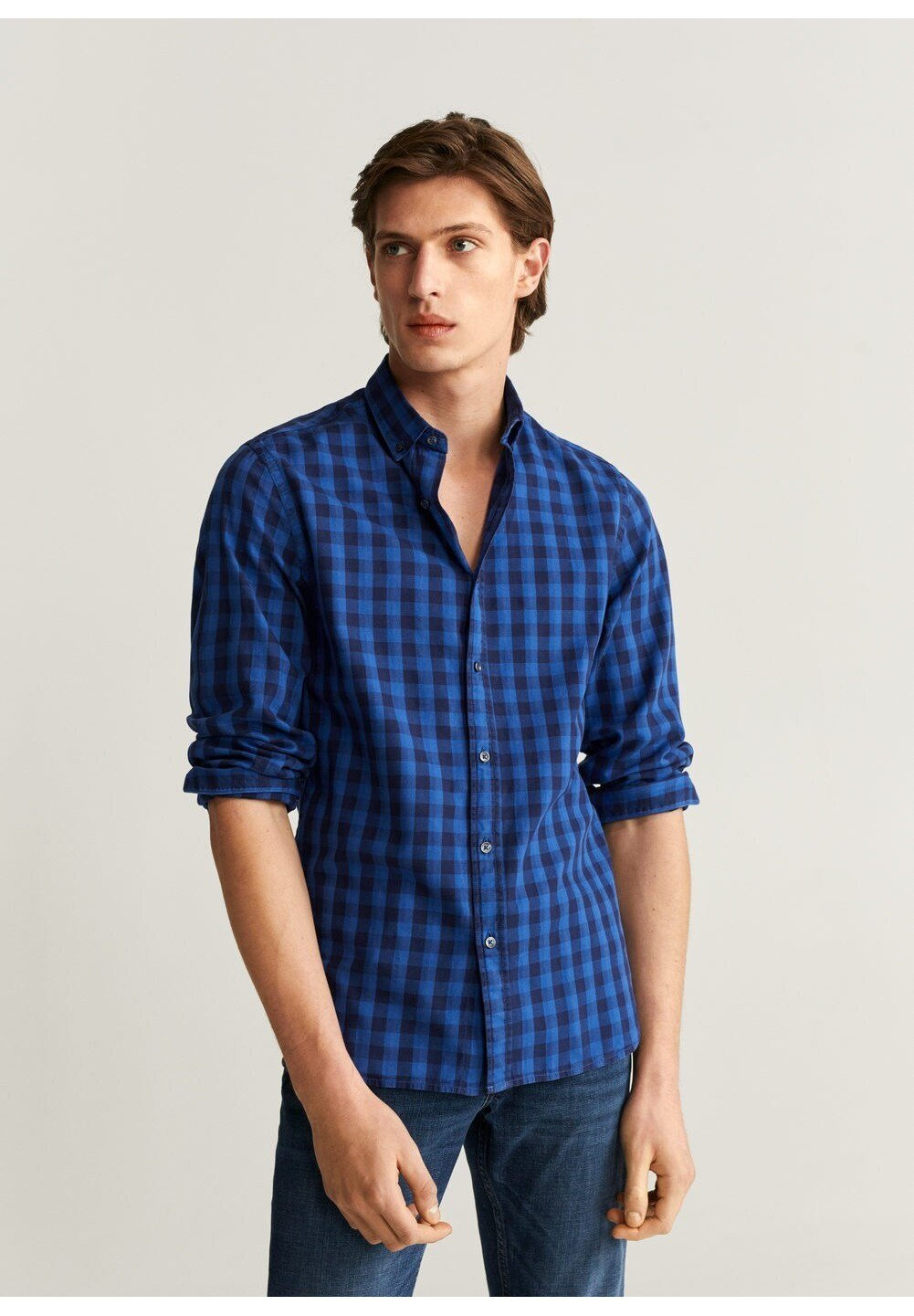 Mango VICHDYE - Koszula - blau