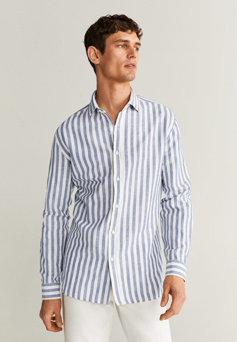 Mango - RIG - Shirt - blau