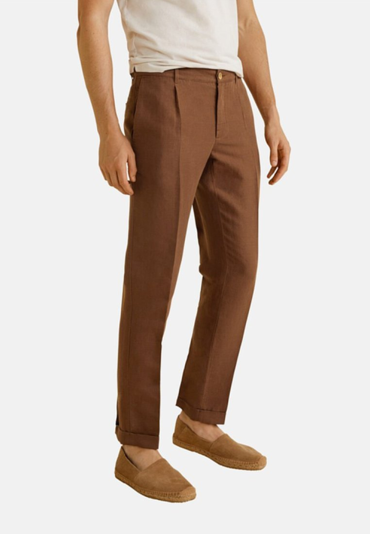 Mango - VIBES - Trousers - brown
