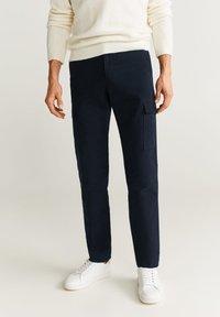 Mango - CARGO - Pantaloni - Dark navy blue - 0