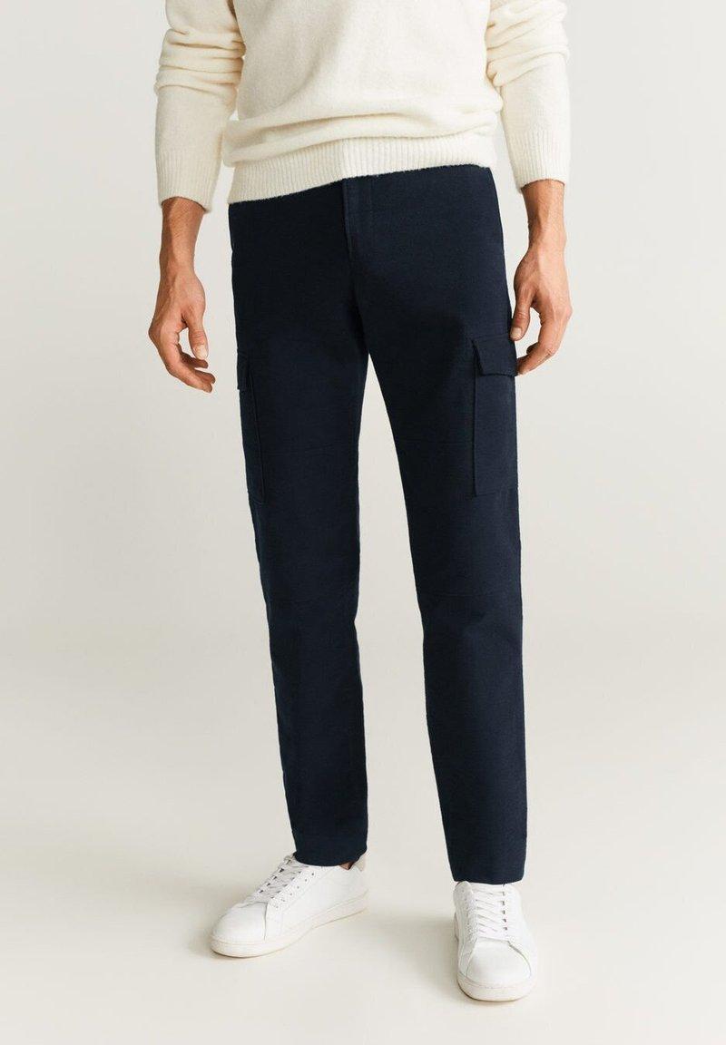 Mango - CARGO - Pantaloni - Dark navy blue