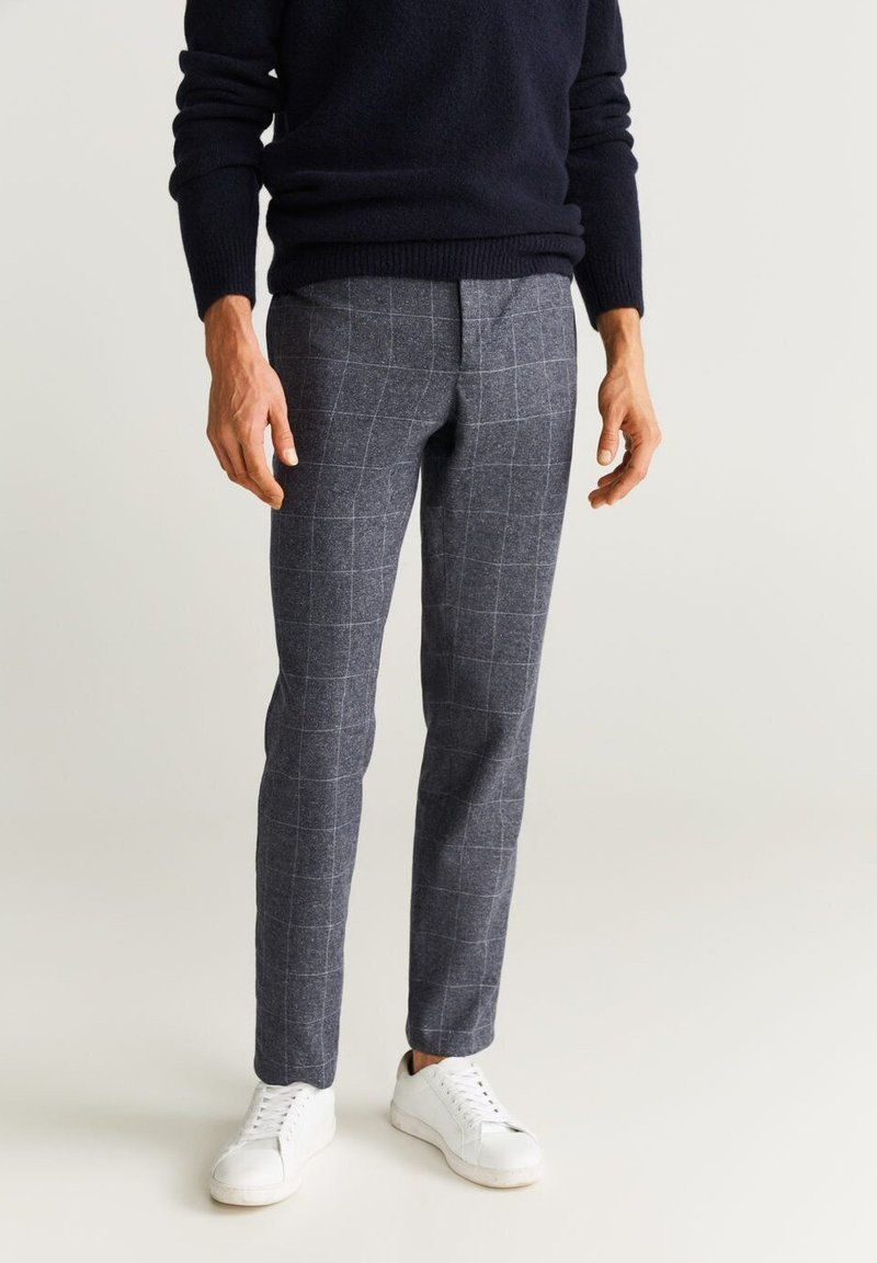Mango - PORTO - Trousers - mottled light grey