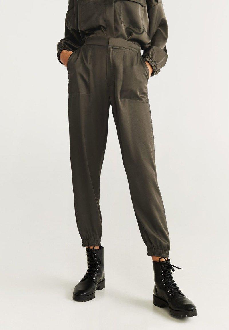 Mango - SHINY - Trousers - khaki