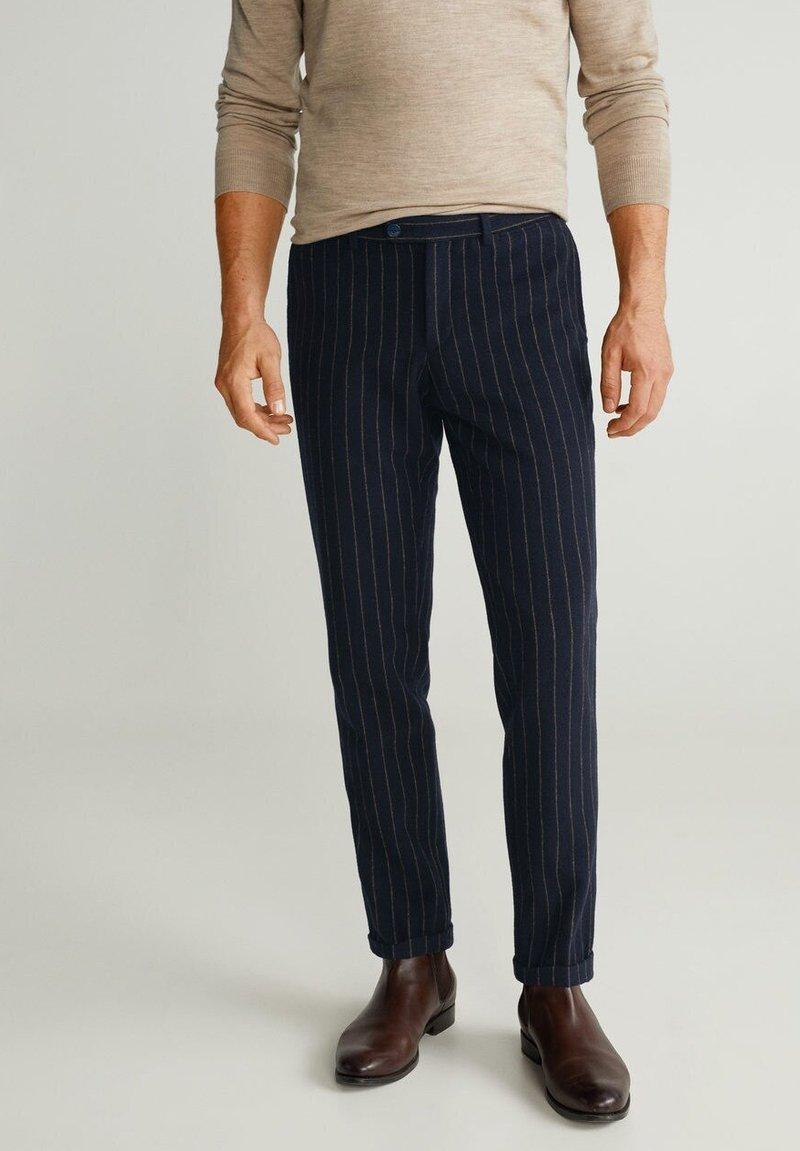 Mango - GERARDO - Pantalon classique - dark navy blue