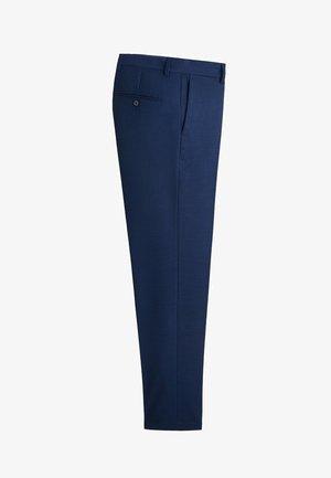 SLIM FIT ANZUGHOSE MIT MIKROSTRUKTUR - Jakkesæt bukser - nachtblau