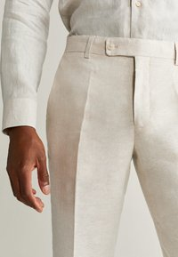 Mango - FLORIDA - Suit trousers - ecru - 3
