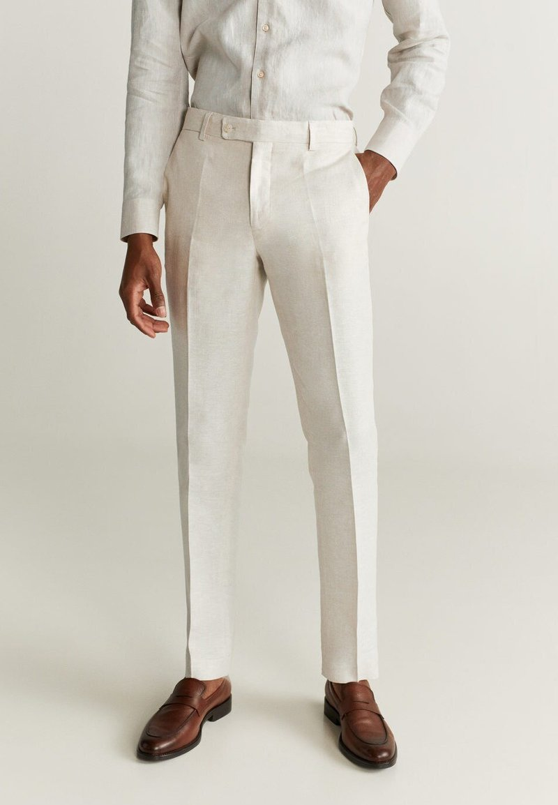 Mango - FLORIDA - Suit trousers - ecru
