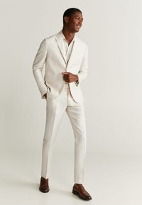 Mango - FLORIDA - Suit trousers - ecru - 1