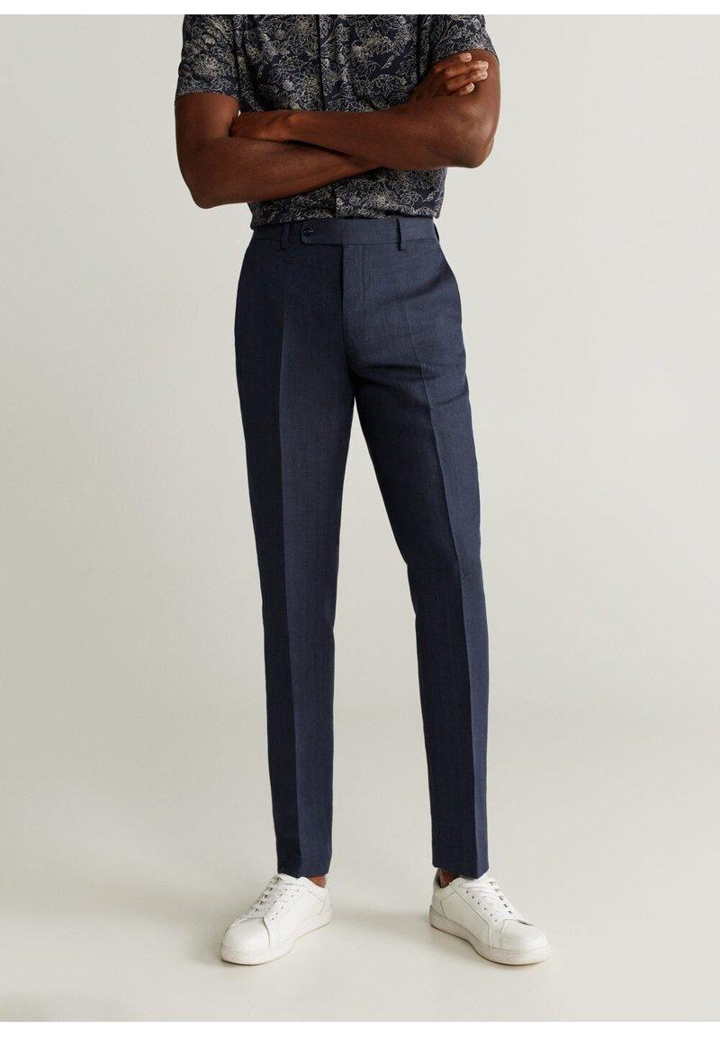 Mango - FLORIDA - Trousers - donkermarine