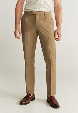 MOROCCO - Pantalon classique - medium brown