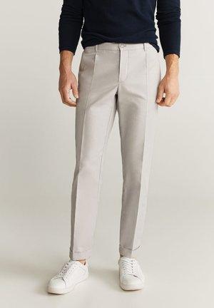 VIBES - Trousers - hellgrau meliert