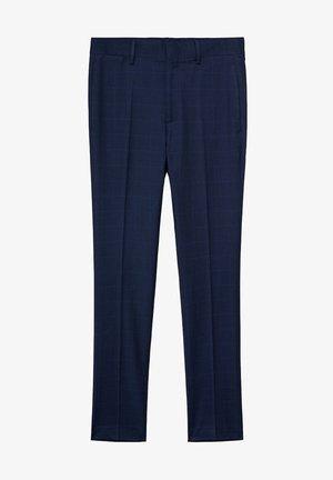 Pantalón de traje - dunkles marineblau