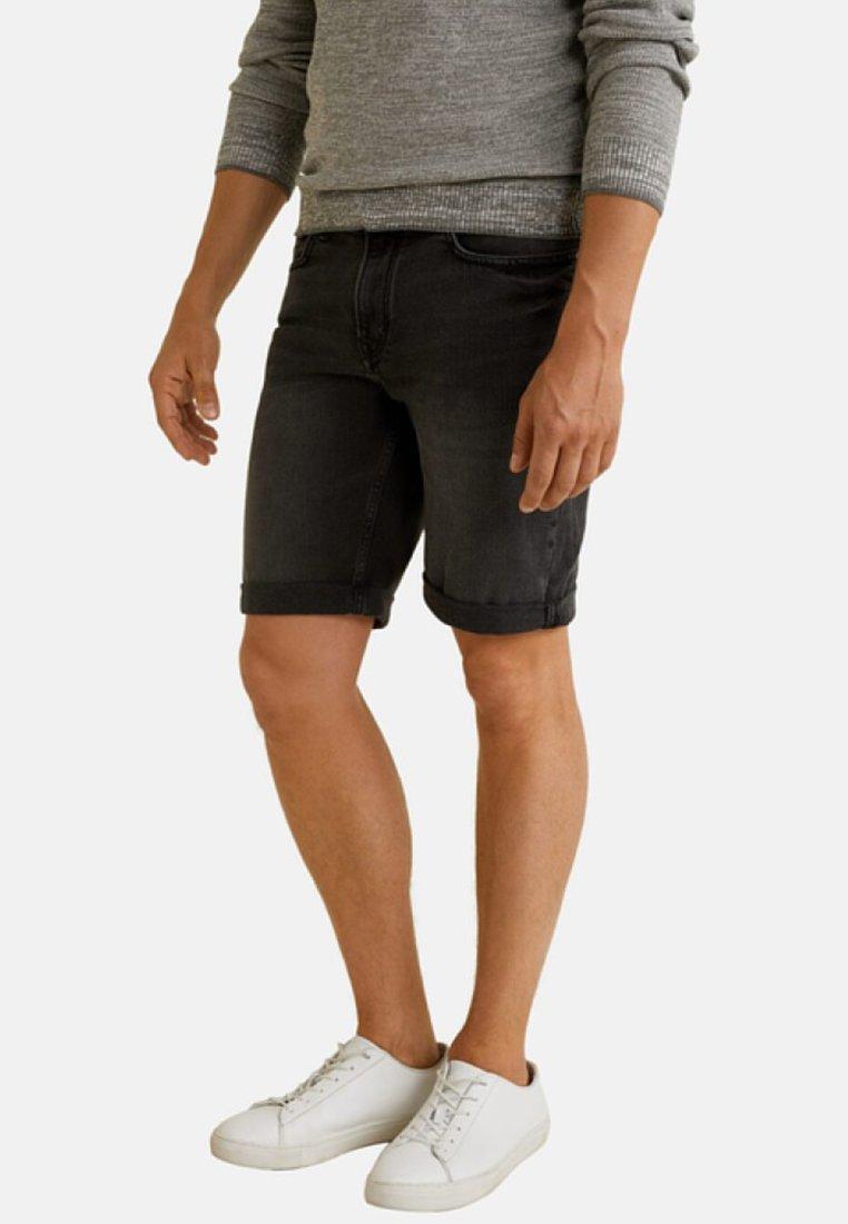 Mango - ROCK - Denim shorts - black denim