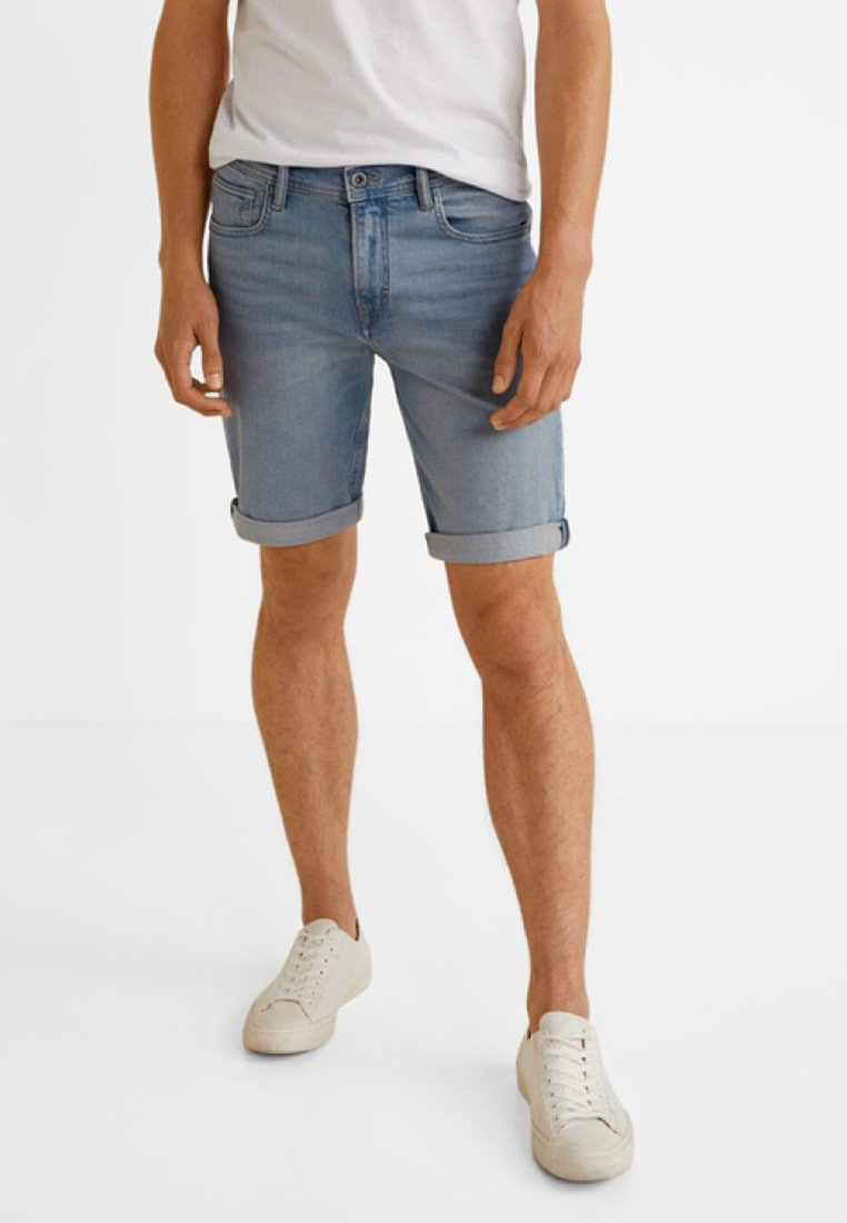 Mango - ROCK - Denim shorts - light blue