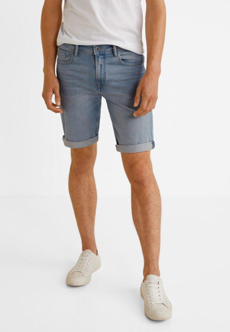 Mango - ROCK - Jeans Shorts - light blue